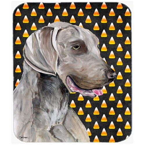 Carolines Treasures SC9170MP Weimaraner Candy Corn Halloween Portrait Mouse Pad Hot Pad Or Trivet