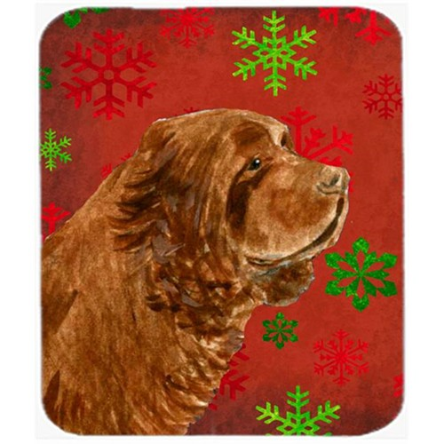 Carolines Treasures SS4717MP Sussex Spaniel Snowflakes Holiday Christmas Mouse Pad Hot Pad Or Trivet
