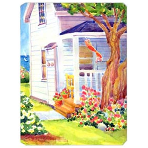 Carolines Treasures 6040MP 9.5 x 8 in. White Cottage House at the lake Or Beach Mouse Pad