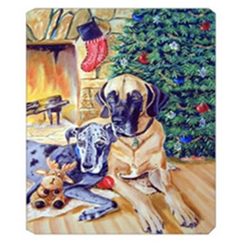 Carolines Treasures 7111MP 8 x 9.5 in. Harlequin and Blue Great Danes Under the Christmas Tree Mouse Pad