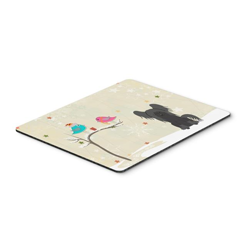 Carolines Treasures BB2584MP Christmas Presents Between Friends Chinese Crested Black Mouse Pad Hot Pad or Trivet
