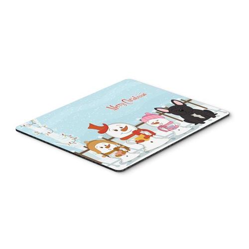 Carolines Treasures BB2340MP Merry Christmas Carolers French Bulldog Brindle Mouse Pad Hot Pad or Trivet