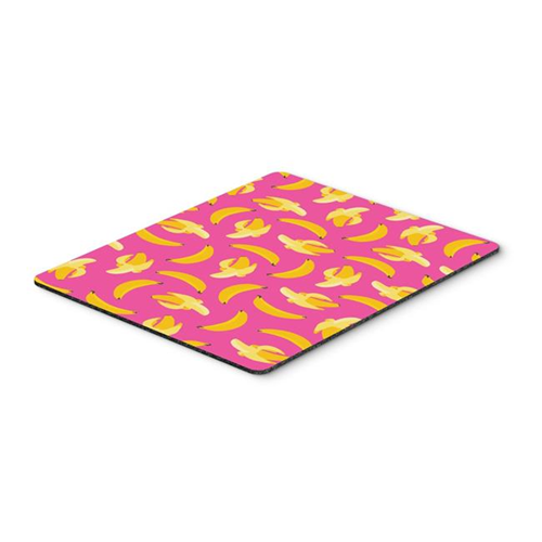 Carolines Treasures BB5140MP Bananas on Pink Mouse Pad Hot Pad or Trivet