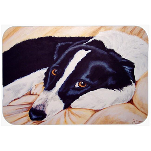 Carolines Treasures AMB1080MP Naptime Border Collie Mouse Pad Hot Pad or Trivet