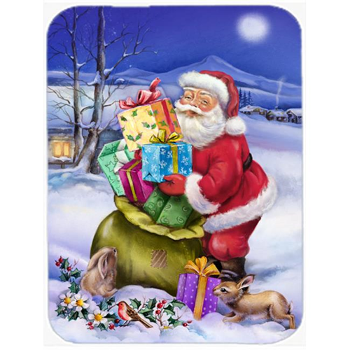 Carolines Treasures APH6556MP Christmas Santa Claus with Rabbits Mouse Pad Hot Pad or Trivet