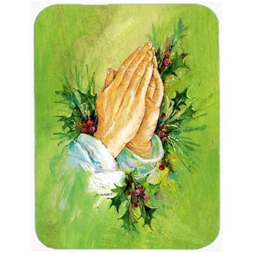 Carolines Treasures AAH5985MP Praying Hangs with Holly Leaves Mouse Pad Hot Pad or Trivet