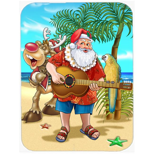 Carolines Treasures APH5151MP Beach Christmas Santa Claus Island Time Mouse Pad Hot Pad or Trivet