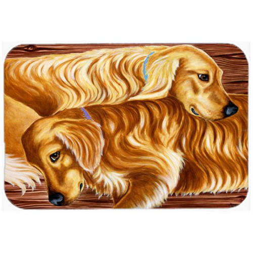 Carolines Treasures AMB1387MP Zeus & Chloie the Golden Retrievers Mouse Pad Hot Pad or Trivet