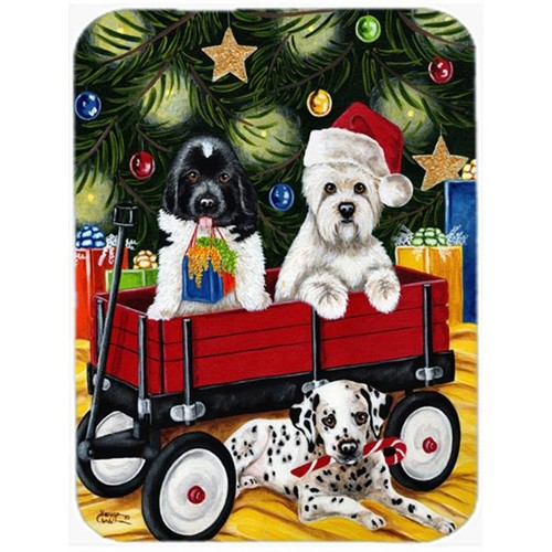 Carolines Treasures AMB1445MP Christmas Westie Newfoundland Dalmatian Mouse Pad Hot Pad or Trivet