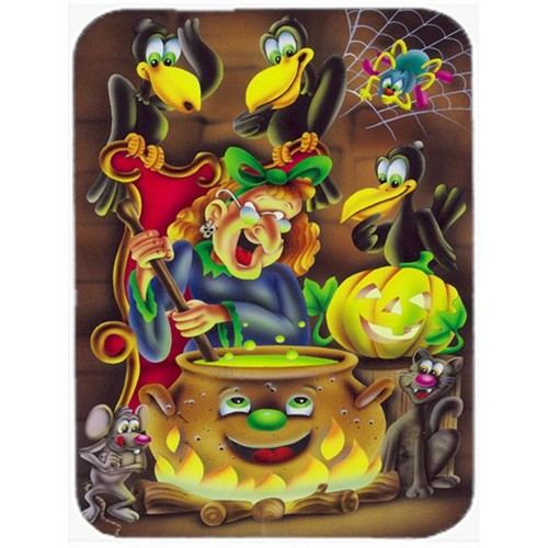 Carolines Treasures APH0934MP Witch & Crows Stirring It Up Halloween Mouse Pad Hot Pad or Trivet