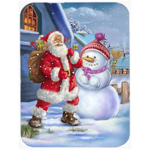 Carolines Treasures APH6200MP Christmas Santa Claus & Snowman Mouse Pad Hot Pad or Trivet