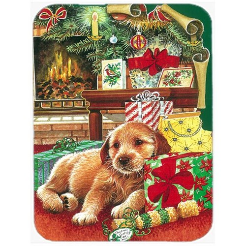 Carolines Treasures APH7552MP Christmas Puppy Mouse Pad Hot Pad or Trivet