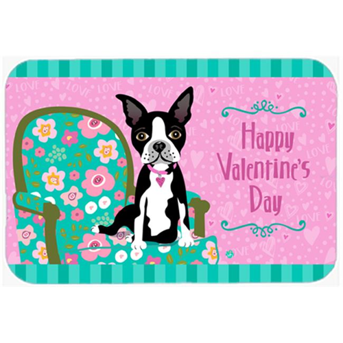 Carolines Treasures VHA3001MP Happy Valentines Day Boston Terrier Mouse Pad Hot Pad or Trivet