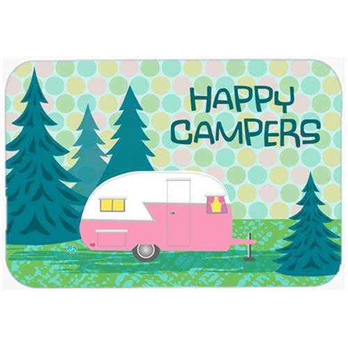Carolines Treasures VHA3004MP Happy Campers Glamping Trailer Mouse Pad Hot Pad or Trivet