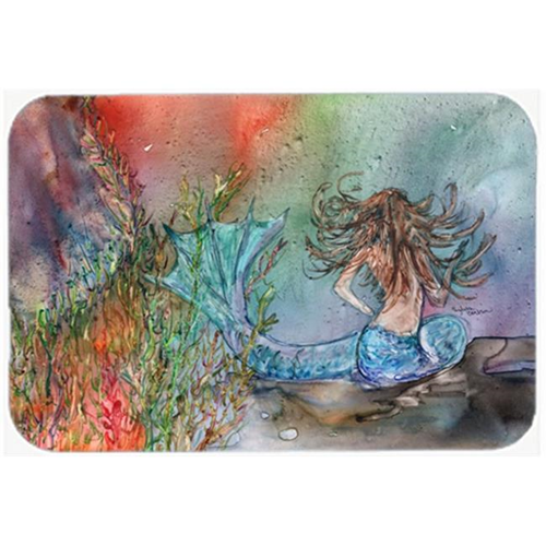 Carolines Treasures 8972MP Brunette Mermaid Water Fantasy Mouse Pad Hot Pad or Trivet