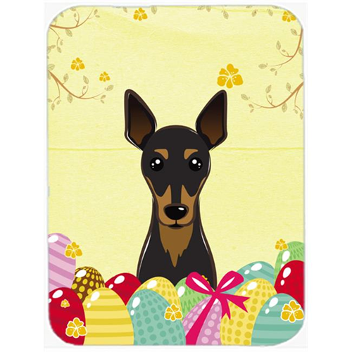 Carolines Treasures BB1922MP Min Pin Easter Egg Hunt Mouse Pad Hot Pad or Trivet