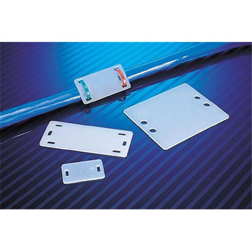 Morris Products 20388 Cable Marker Plates 2.5 In. X 2 In. Pack Of 10