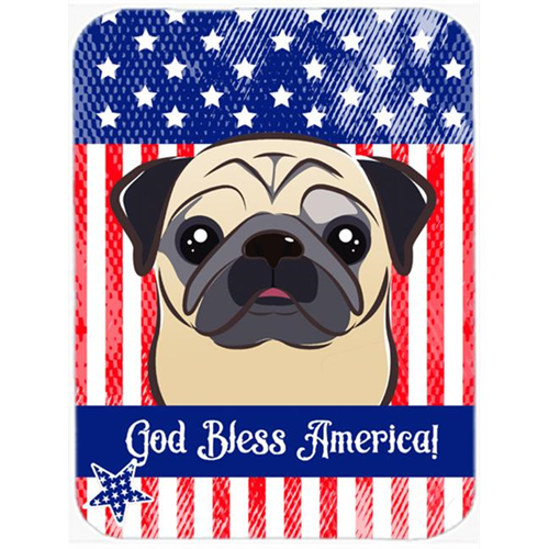 Carolines Treasures BB2192MP God Bless American Flag with Fawn Pug Mouse Pad Hot Pad or Trivet
