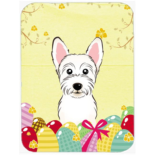 Carolines Treasures BB1908MP Westie Easter Egg Hunt Mouse Pad Hot Pad or Trivet