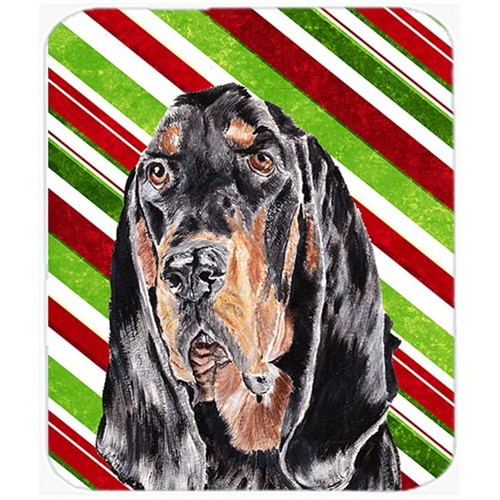 Carolines Treasures SC9609MP Coonhound Candy Cane Christmas Mouse Pad Hot Pad Or Trivet