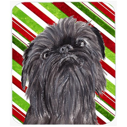 Carolines Treasures SC9615MP Brussels Griffon Candy Cane Christmas Mouse Pad Hot Pad Or Trivet