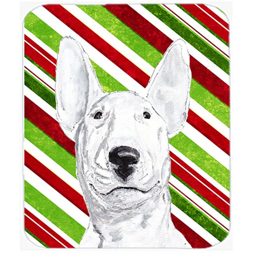Carolines Treasures SC9618MP Bull Terrier Candy Cane Christmas Mouse Pad Hot Pad Or Trivet