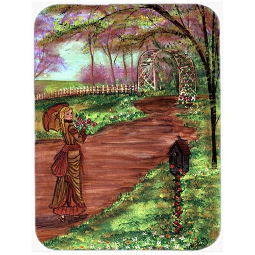 Carolines Treasures CN5012MP 7.75 x 9.25 In. Fancy Lady on a Stroll Mouse Pad Hot Pad or Trivet