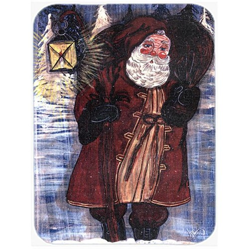 Carolines Treasures CN5025MP 7.75 x 9.25 In. Santa Claus with Lantern Mouse Pad Hot Pad or Trivet