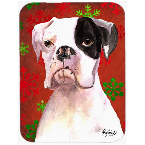Carolines Treasures RDR3004MP 7.75 x 9.25 In. Cooper Red Snowflakes Boxer Mouse Pad Hot Pad or Trivet