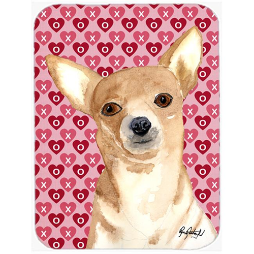 Carolines Treasures RDR3014MP 7.75 x 9.25 In. Chihuahua Love and Hearts Mouse Pad Hot Pad or Trivet