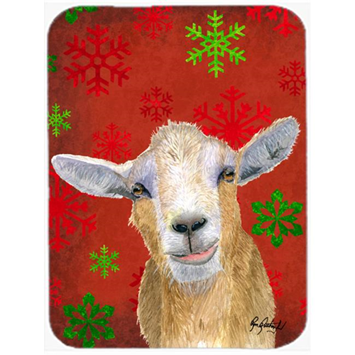 Carolines Treasures RDR3024MP 7.75 x 9.25 In. Red Snowflakes Goat Christmas Mouse Pad Hot Pad or Trivet