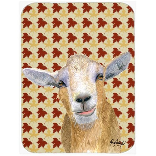 Carolines Treasures RDR3027MP 7.75 x 9.25 In. Fall Leaves Goat Mouse Pad Hot Pad or Trivet