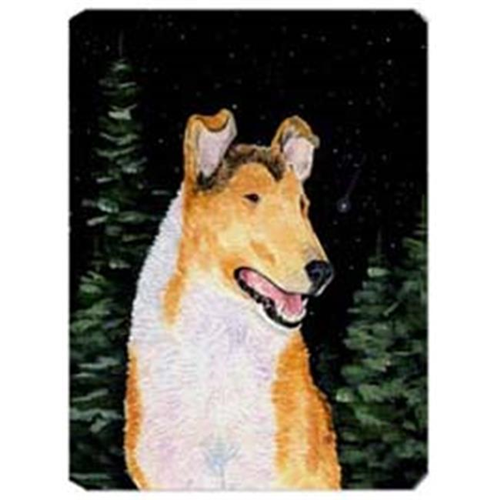 Carolines Treasures SS8484MP Starry Night Collie Smooth Mouse Pad