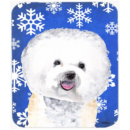 Carolines Treasures SC9362MP Bichon Frise Winter Snowflakes Holiday Mouse Pad Hot Pad or Trivet