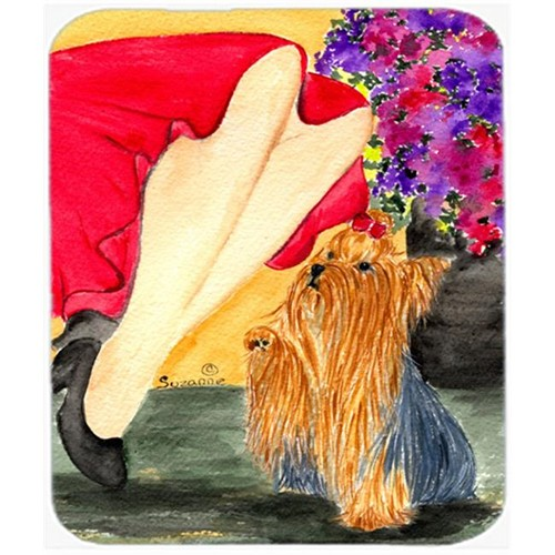 Carolines Treasures SS8522MP Lady With Her Yorkie Mouse Pad Hot Pad or Trivet