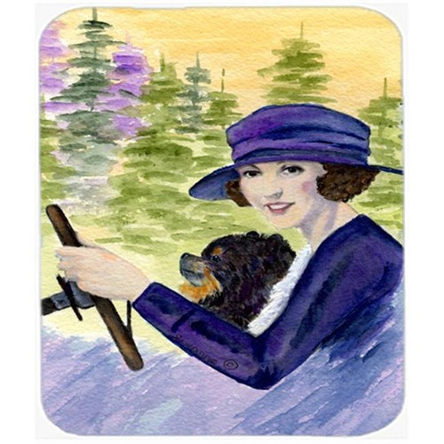 Carolines Treasures SS8538MP Lady Driving With Her Pomeranian Mouse Pad Hot Pad or Trivet