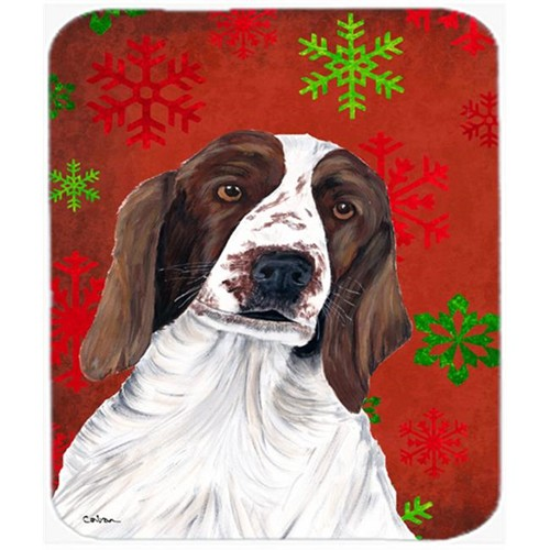 Carolines Treasures SC9420MP Welsh Springer Spaniel Snowflakes Christmas Mouse Pad Hot Pad Or Trivet