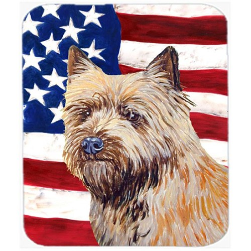 Carolines Treasures LH9020MP Usa American Flag With Cairn Terrier Mouse Pad Hot Pad Or Trivet