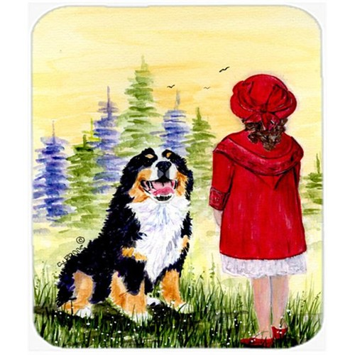 Carolines Treasures SS8531MP Little Girl With Her Bernese Mountain Dog Mouse Pad Hot Pad or Trivet