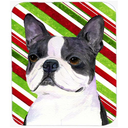 Carolines Treasures SS4585MP Boston Terrier Candy Cane Holiday Christmas Mouse Pad Hot Pad Or Trivet