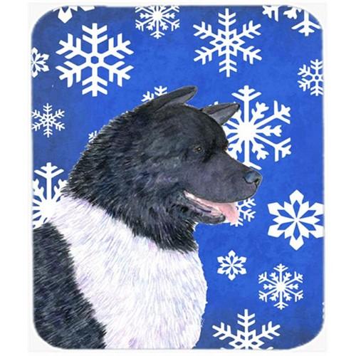 Carolines Treasures SS4659MP Akita Winter Snowflakes Holiday Mouse Pad Hot Pad or Trivet