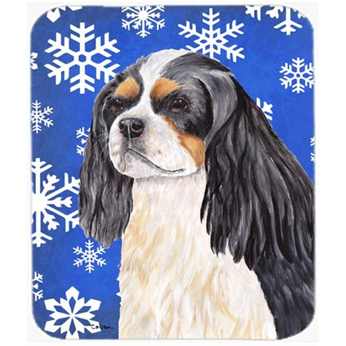 Carolines Treasures SC9391MP Cavalier Spaniel Winter Snowflakes Holiday Mouse Pad Hot Pad Or Trivet