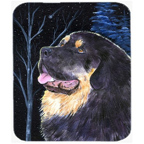 Carolines Treasures SS8552MP Starry Night Tibetan Mastiff Mouse Pad Hot Pad Or Trivet
