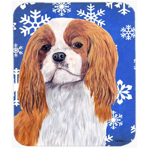 Carolines Treasures SC9394MP Cavalier Spaniel Winter Snowflakes Holiday Mouse Pad Hot Pad Or Trivet