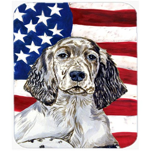 Carolines Treasures LH9022MP Usa American Flag With English Setter Mouse Pad Hot Pad Or Trivet
