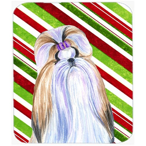Carolines Treasures SS4534MP Shih Tzu Candy Cane Holiday Christmas Mouse Pad Hot Pad Or Trivet