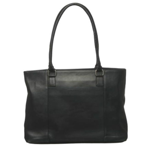 Royce Leather VLLB-BLK WOMENS VAQUETTA LEATHER 15 in. LAPTOP TOTE Black