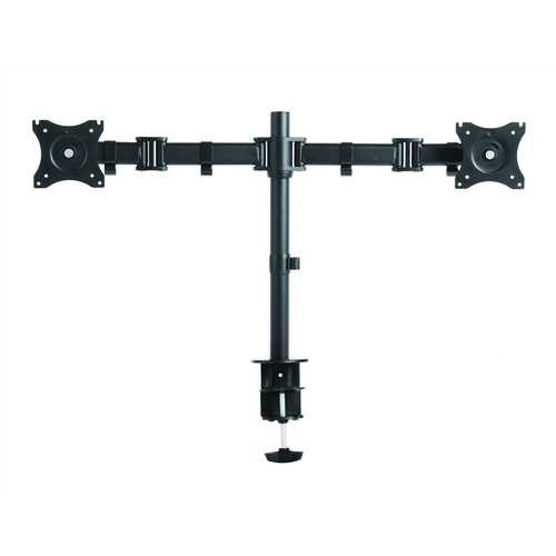 Rocelco DM2 Dual Monitor Desk Mount for Standing Desks or Desk Riser (Black)