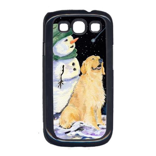 Carolines Treasures SS8577GALAXYSIII Golden Retriever With Snowman In Green Hat Galaxy S111 Cell Phone Cover