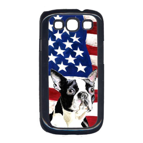 Carolines Treasures SC9001GALAXYS3 USA American Flag with Boston Terrier Cell Phone Cover GALAXY S111